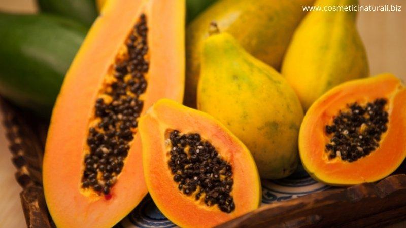 Papaya ingrediente della crema viso rassodante Natyr